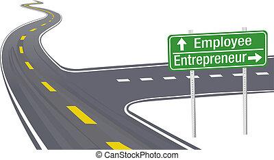 従業員, 企業家, 決定, ビジネス 印