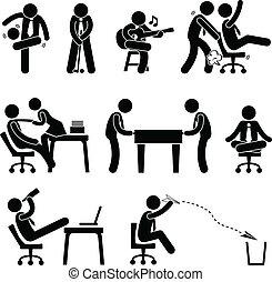 従業員, 楽しみ, 労働者, オフィス