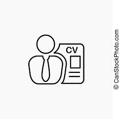 従業員, 求人, icon., 印。, headhunting.