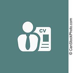 従業員, 求人, icon., headhunting, 印。