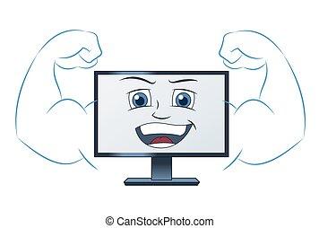 微笑, コンピュータ, 強力