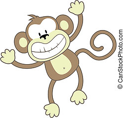 微笑, サル