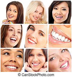 微笑, 顔, 歯