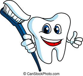 微笑, tooth-brush, 歯