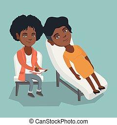 心理学者, 患者, セッション, 持つこと, アフリカ