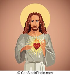 心, イエス・キリスト, 神聖, 肖像画