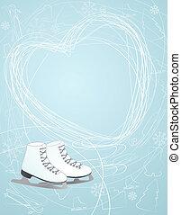 心, シンボル, アイススケートをする