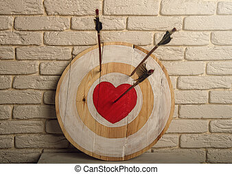 心, ターゲット, 矢