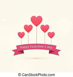 心, バレンタイン, 幸せ, 背景, 飛行, 日
