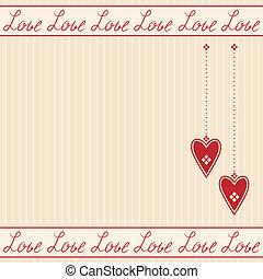 心, ロマンチック, カード, 挨拶