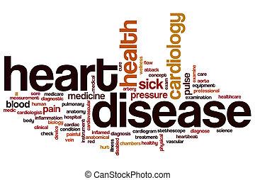 心, 単語, 病気, 雲