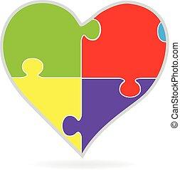 心, 困惑, 愛, ロゴ