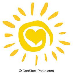 心, 太陽, 抽象的