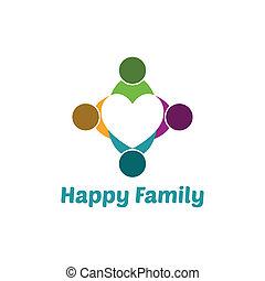 心, 家族
