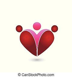 心, 愛, シンボル。, 家族