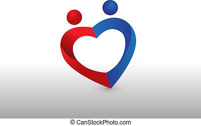 心, 愛, 恋人, 形, ロゴ, イメージ