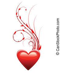 心, 愛, 日, 背景, バレンタイン