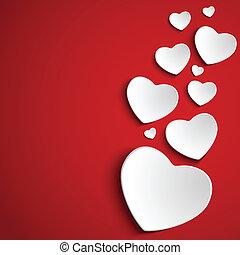 心, 背景, 赤, 日, バレンタイン