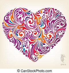 心, 装飾用, 有色人種, パターン