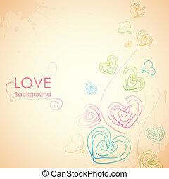 心, sketchy, 愛, 背景