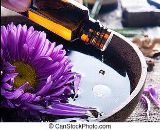 必要, aromatherapy., 待遇, oil., エステ