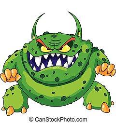 怒る, 緑モンスター