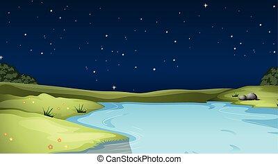 性質の景色, 夜