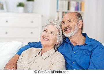 恋人, モデル, 満足くそう, 年配, 追憶