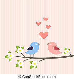 恋人, ラブ羽の鳥