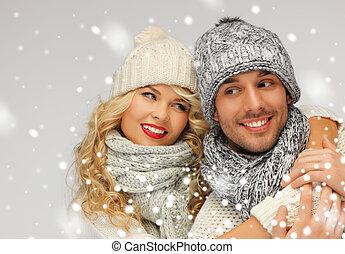 恋人, 冬, 家族, 衣服