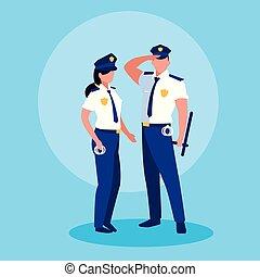 恋人, 特徴, 役人, polices, avatar