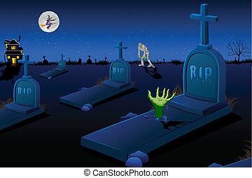 恐い, 墓地