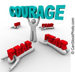 恐れている, 成功, 1人の人, 勇気, 他, 失敗, 持つ