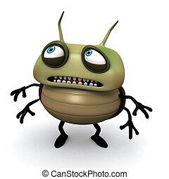 恐れている, 緑の虫
