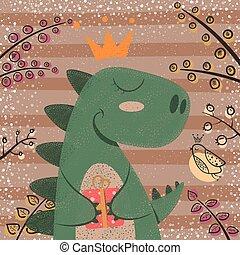恐竜, 狂気, かわいい, 面白い, characters.