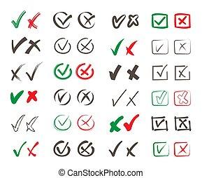 悪事, 投票, set., 印, いいえ, 形態, 広場, economic., 政治的である, 公衆, 将官, ベクトル, ポジティブ, 選択, referendum., 否定的, はい, 色, heck, シンボル, rosses, 権利, ラウンド, poll, 輪郭