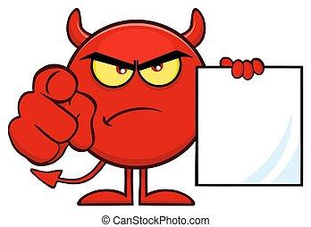 悪魔, 指すこと, 怒る, 特徴, 指, 保有物, ブランク, 歌いなさい, 漫画, 赤, emoji