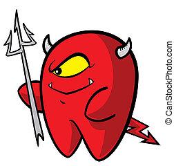 悪魔, 歯