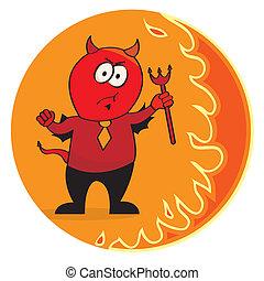 悪魔, 赤, ネクタイ