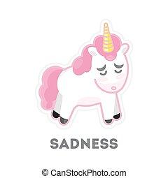 悲しい, 隔離された, unicorn.