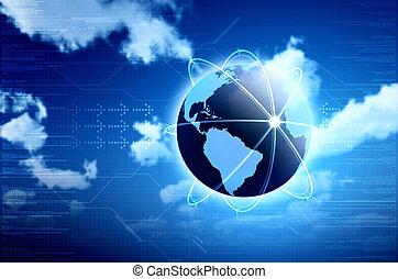 情報, 偉人, 技術, 計算, イメージ, 背景, ∥あるいは∥, デザイン, 概念, internet., 本, あなたの, 雲