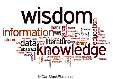情報, 単語, 知識, 知恵, データ, 雲