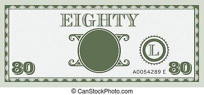 情報, image., スペース, お金, 手形, 80, テキスト, 付け加えなさい, あなたの