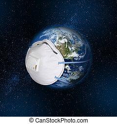 惑星, 保護である, 身に着けていること, 呼吸マスク, 地球