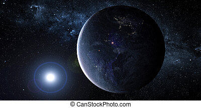 惑星, 外の, space.