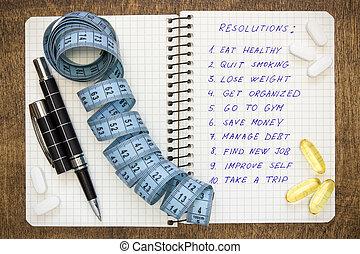 意欲的, resolutions, 健康