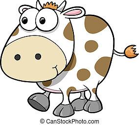 愚か, ベクトル, 牛, 動物