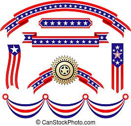 愛国心が強い, アメリカ人, リボン