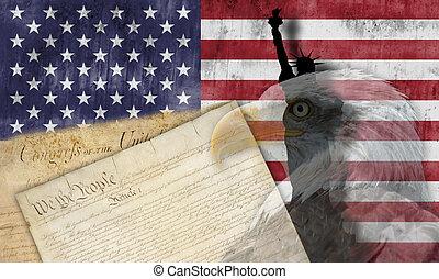 愛国心が強い, シンボル, アメリカの旗