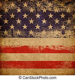 愛国心が強い, バックグラウンド。, アメリカ人, グランジ, 主題